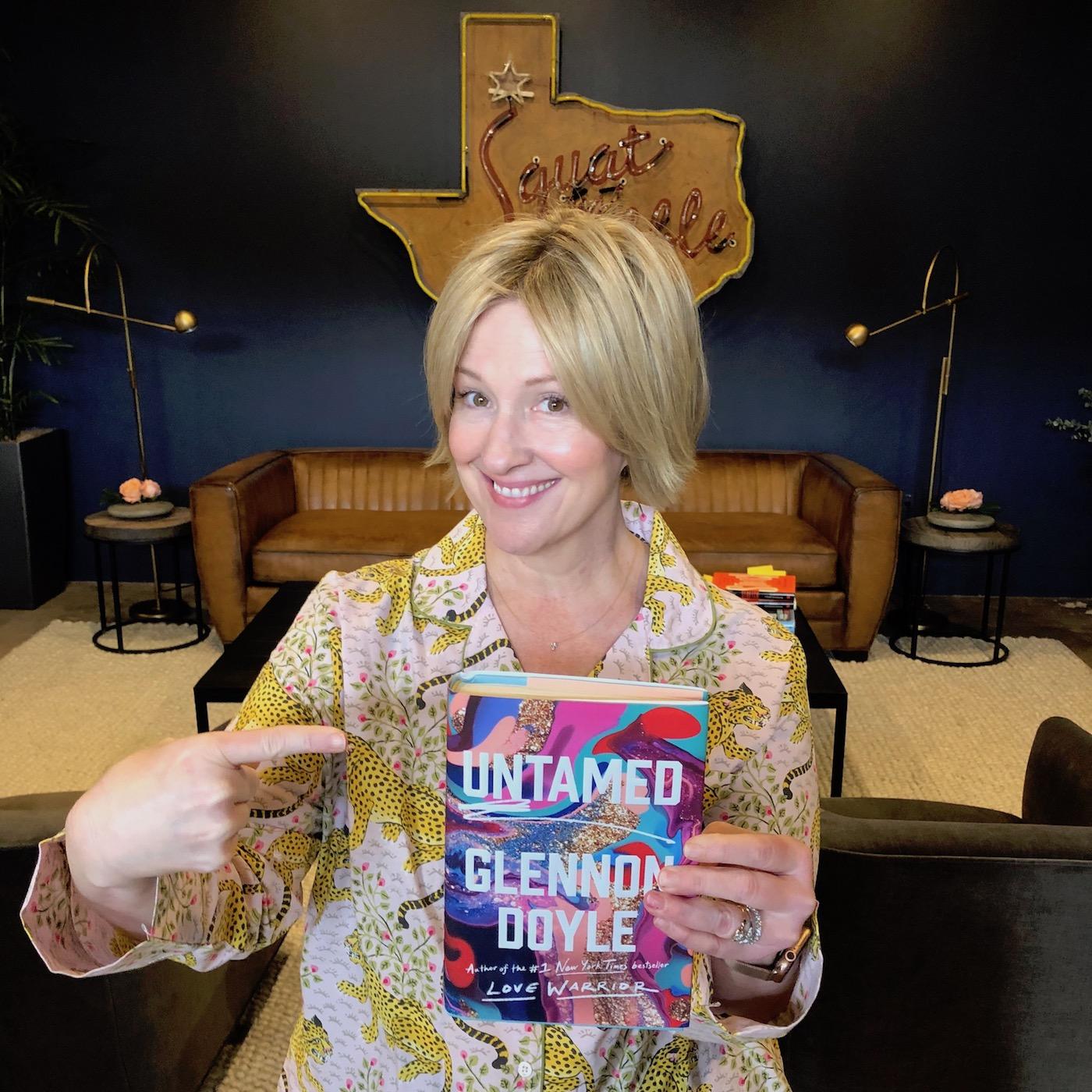 Brené with Glennon's book